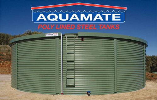aquamate tank and logo